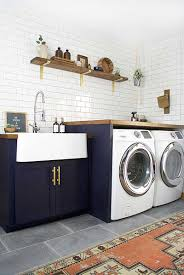 Decorating A Laundry Room by The Addition Of Tile And Colorful Cabinetry Can Turn A Laundry
