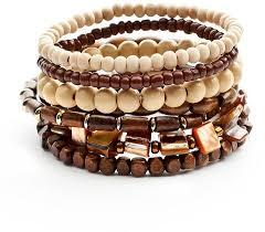 bead bracelet set images Mudd two tone wood bead stretch bracelet set where to buy how jpg