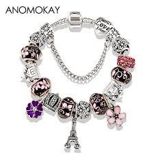 beads bracelet pandora images 2018 antique silver color eiffel tower pandora charm bracelet jpg