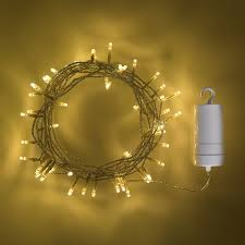 Outdoor Battery Light by 96 Warm White Led Outdoor Battery Operated Fairy Lights By