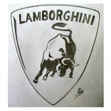 lamborghini logo sketch the beast abhi acharya draw to drive
