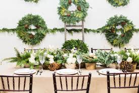 Winter Wedding Decorations Winter Wedding Ideas Wreaths As Bouquets U0026 Pinecone Decorations