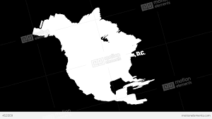 Map Of Usa Black And White by 3d Map Of Usa With State Flags Zooming Into Washington Stock