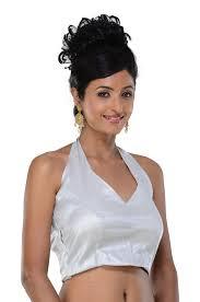 halter neck blouse halter neck sari blouse silver designer ready made indian
