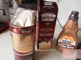 Eggnog And Southern Comfort Easy Homemade Recipe Salted Caramel Eggnog Shake The Grant Life
