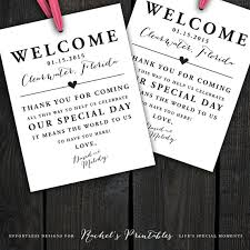 hotel welcome bags custom printable wedding welcome bag tags labels hotel