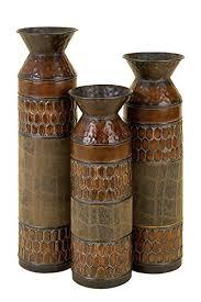 Vase Deco Amazon Com Deco 79 Metal Vase 25 By 22 By 19 Inch Set Of 3