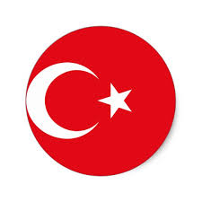 flag of turkey crescent moon and sticker