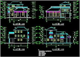 Drawing House Plans Free Scattered Style Villa Building Plans Free Download