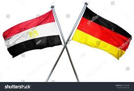 Eygpt Flag Egypt Flag Combined Germany Flag 3d Stockillustration 427526248