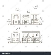 outline vector flat line illustration small stock vector 441318514