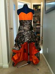 camo and orange wedding dresses camo wedding dresses in mossy oak and white orange army style