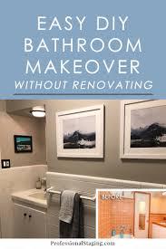 before u0026 after easy diy bathroom update
