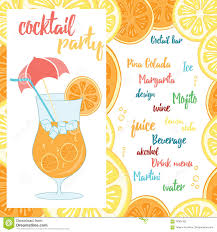 summer cocktail party poster stock vector image 42847703