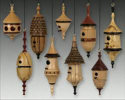 birdhouse ornaments by don leman wood turning