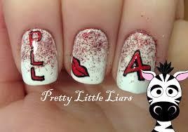 easy pretty little liars nail art design tutorial pll request