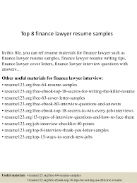 lawyer resume top 8 finance lawyer resume sles 1 638 jpg cb 1437637618
