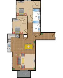 Two Bedroom Floor Plan by Metro Village Apartments Floor Plans U0026 Pricing