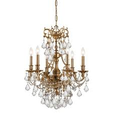 Crystorama Chandeliers Sale Crystorama 5146 Ag Cl Mwp Crystal Six Light Chandeliers From