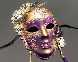 miniature mardi gras masks gold wall decor etsy