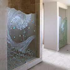 Etched Shower Doors Shower Door Contemporary Bathroom San Diego By Cast Glass