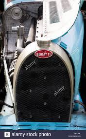 bugatti badge radiator and badge from a classic bugatti type 35 stock photo