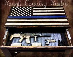 Thin Blue Line Flag Deluxe Home Defense Coffee Table Thin Blue Line American Flag