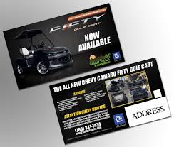 camaro golf cart mailer for caddyshack oasis media design