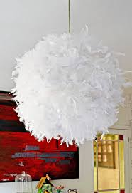 Ornament Chandelier Diy by A Simple Affordable And Beautiful Diy Feather Lampshade Pillar