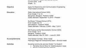 Narrative Resume College Admission Resume Builder Resume For Your Job Application