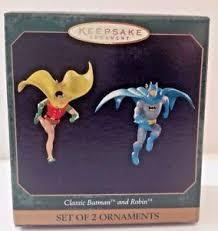 keepsake ornament classic batman and robin set of 2 ebay