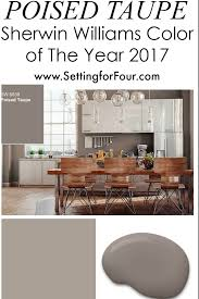 popular paint colors for 2017 sherwin williams poised taupe color of the year 2017 setting for four