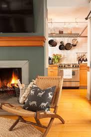 mid century décor and plush rugs revamp this cozy ski retreat
