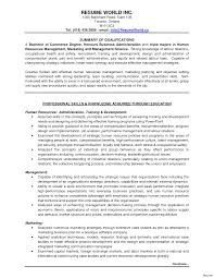 exles of resumes for management sle resume summary entry level human business management exles