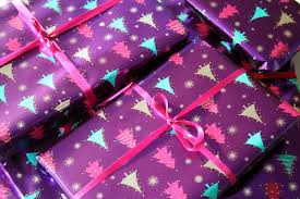 purple gift wrap purple christmas tree patterned gift wrap pictures photos and