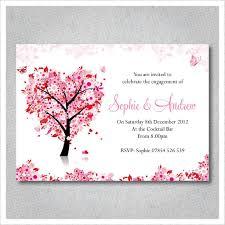 pink tree engagement invitations