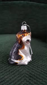 blown glass beagle dog christmas tree ornament decoration or