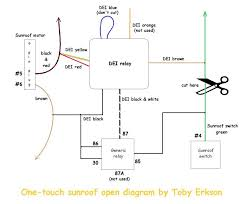 one touch sunroof open dei timer relay installation instructions