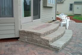 patio stairs ideas here are some more ideas for encased paver
