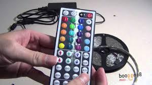 rgb led light controller 5m smd 5050 rgb waterproof 300 led strip light 44 key controller 12v