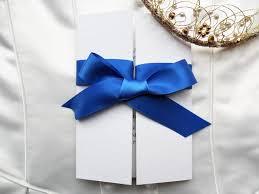 Royal Blue Wedding Invitations Gatefold Wedding Invitations From 1