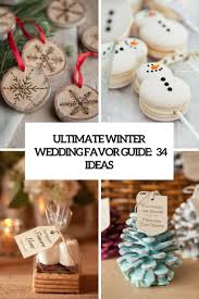 ornament favors ultimate winter wedding favor guide 34 ideas weddingomania