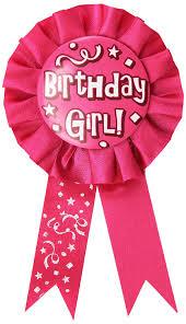 birthday girl pin beistle 60417 birthday girl award ribbon 3 3 4 inch