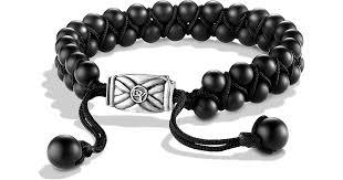 black onyx beads bracelet images Lyst david yurman spiritual beads two row bracelet with black jpeg