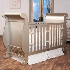 metallic color palette in a baby nursery