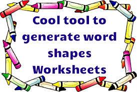 word shapes worksheets generator free worksheet generator