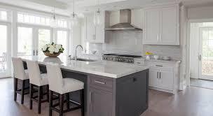 white and grey kitchen white kitchen grey island home pinterest gray island helena source