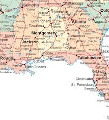 map us south south states road map