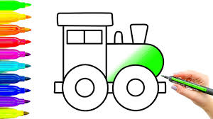 toy train coloring pages and drawing colouring videos with