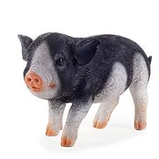 three pigs realistic resin black piglet garden ornaments